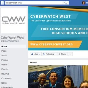 Screenshot of CyberWatch West's Facebook page