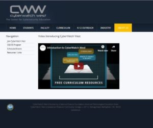 Screenshot of video posted on the CyberWatch West website