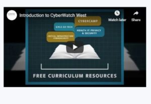 Close-up screenshot of video posted on the CyberWatch West website