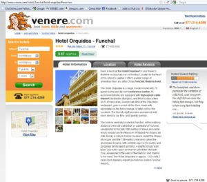 Description of the Hotel Orquidea, written for Expedia/Venere