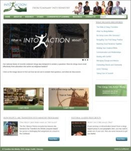 Screenshot of the homepage of the Clergy Into Action website, at http://into-action.net
