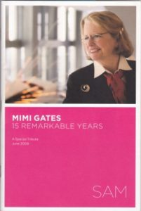 "Front cover of the 2009 Seattle Art Museum publication ""Mimi Gates -- 15 Remarkable Years"""