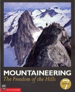 "Front cover of ""Mountaineering: The Freedom of the Hills"" 7th edition"